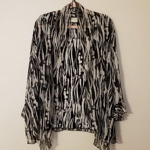 Alfred Dunner 18w black and white blouse